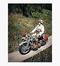 ~Motorcycle Joe~ Photographic Print