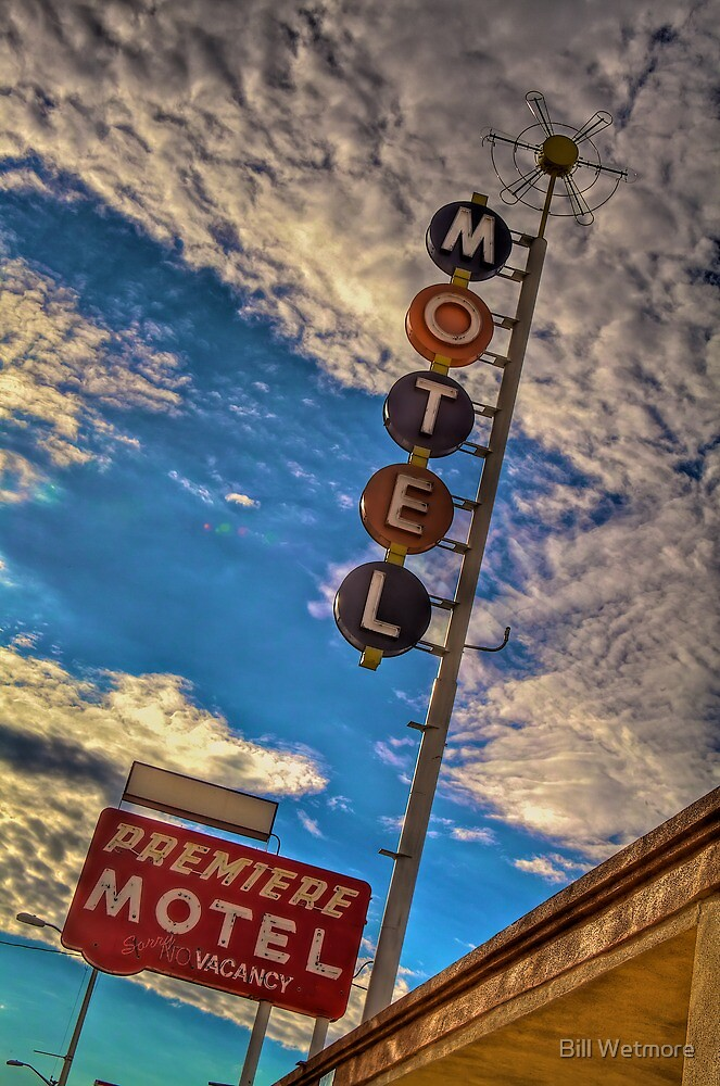 Premiere Motel on Route 66 by Bill Wetmore