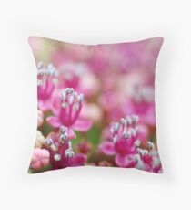 Pink Manicured Nails Throw Pillow