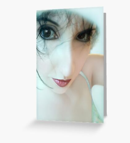 Searching for innocence lost - Self Portrait Greeting Card