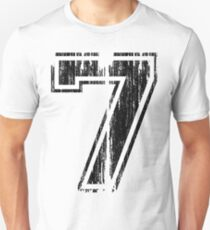 Bold Distressed Sports Number 7 Unisex T-Shirt