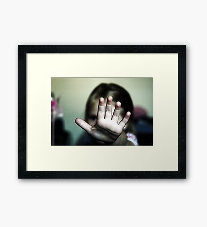 Talk To The Hand, Dad Framed Print