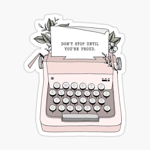 Typewriter design Glossy Sticker