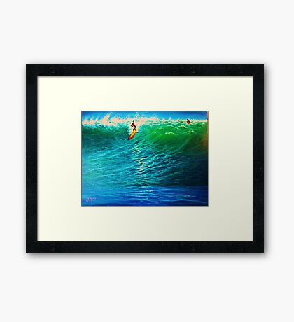 Dropping In at the Pipe Framed Print