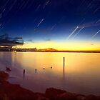 Star Trails over Cowes by Yvonne Mitchell