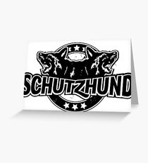 Baseball style Schutzhund for black or coloured background Greeting Card