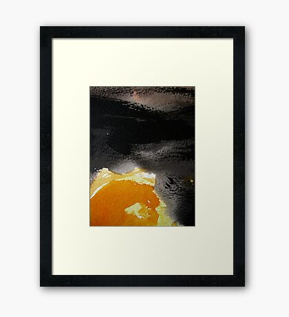 sun dance....under moving black cloud  Framed Print