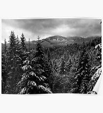 Snow In The Cascades ~ Oregon High Casacades ~ Poster