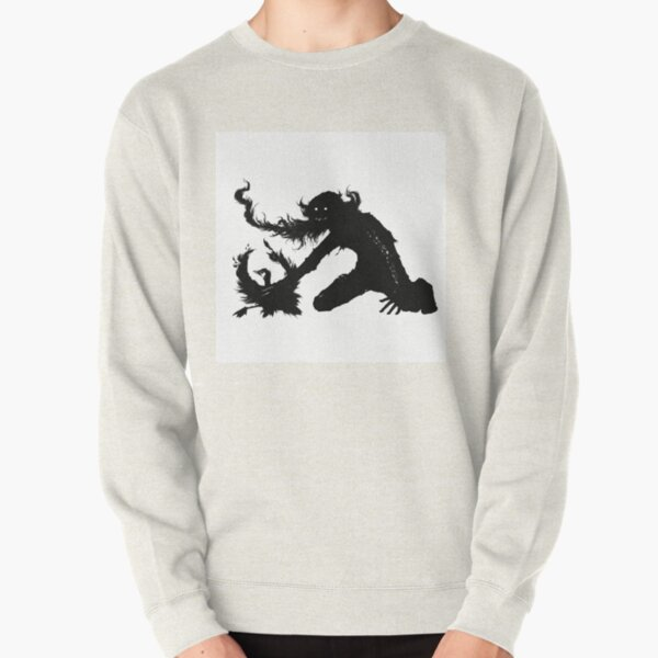 A hobo getting rid of a bird Pullover Sweatshirt