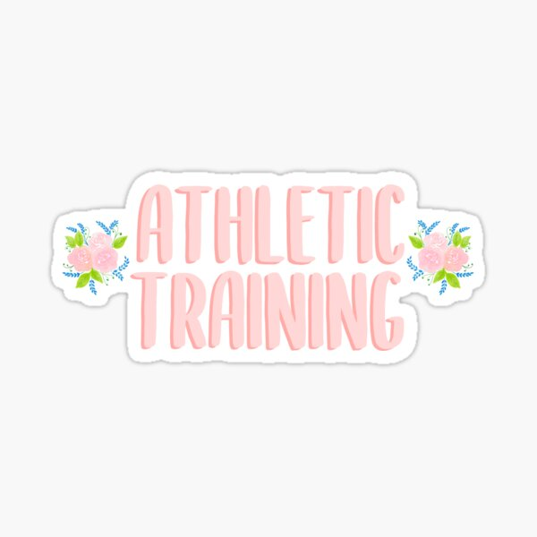 Athletic Training Floral Sticker