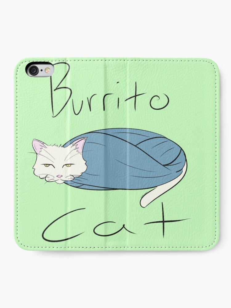 Burrito Cat Iphone Wallet By Leeswaggerty Redbubble
