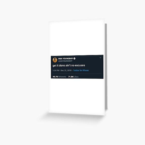 nba youngboy tweet Greeting Card