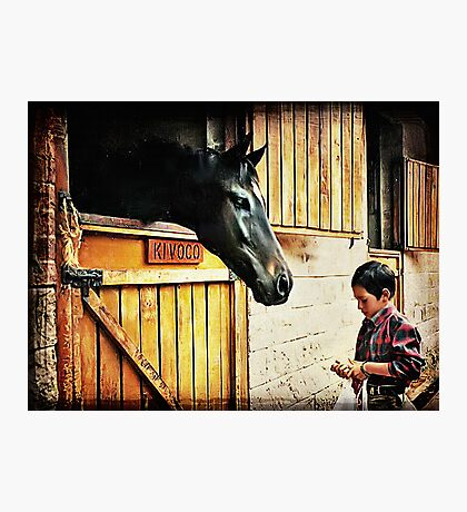 Feeding The Horse Photographic Print