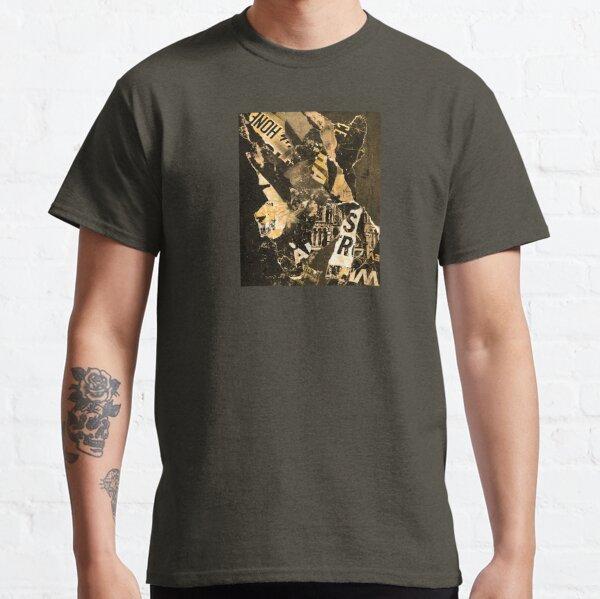 Yellow Black White Urban Art / Torn Street Poster Collage Classic T-Shirt