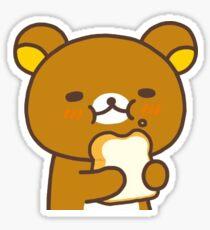 rilakkuma eating bread Sticker
