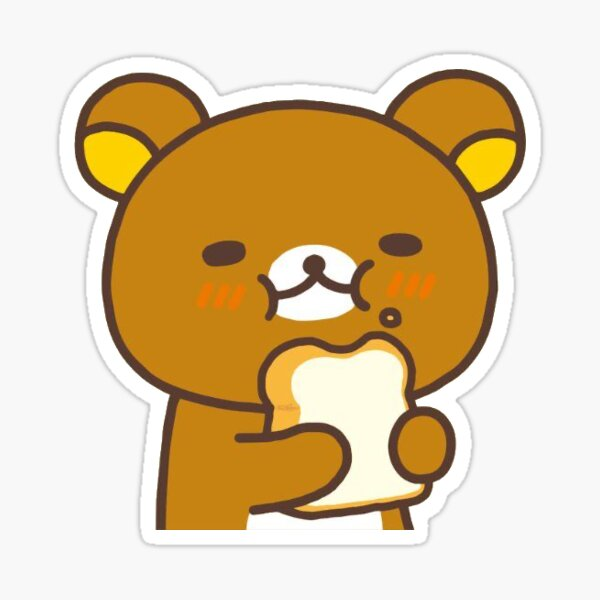 rilakkuma eating bread Sticker