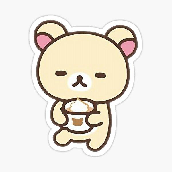 korillakkuma hot chocolate Sticker