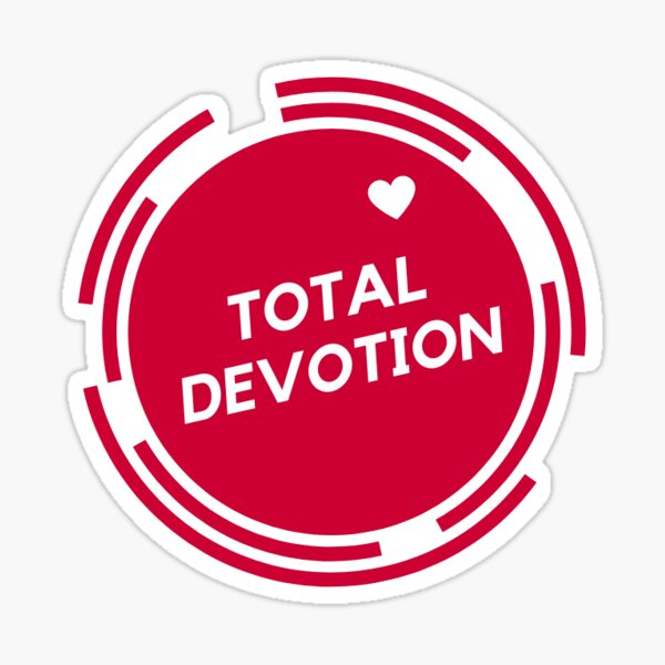 Total Devotion Red Logo with Heart Sticker