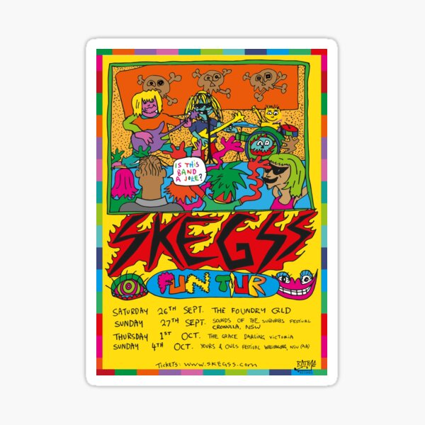 Skeggs Tour Poster Sticker