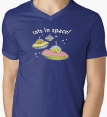 Space cats, Cats in Space Men's V-Neck T-Shirt