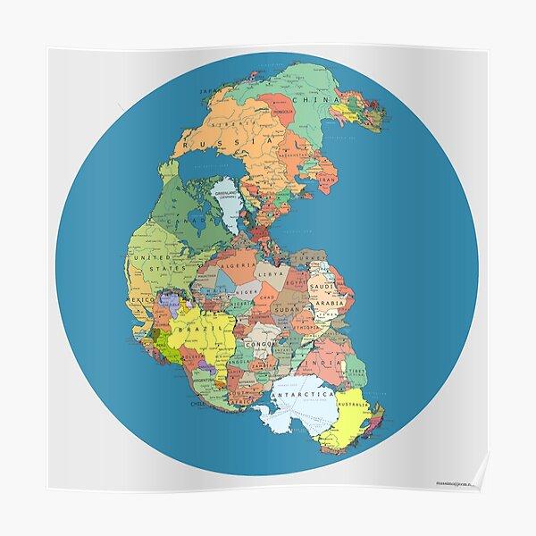 Pangea Politica por Massimo Pietrobon Póster