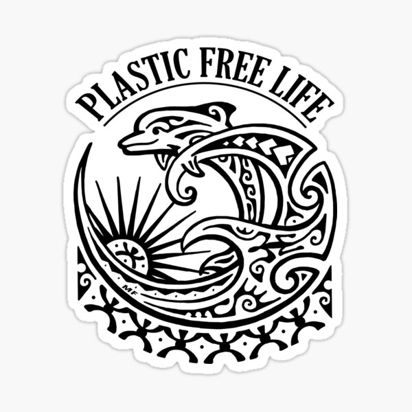 Marine life deserves clean oceans!! We can act together to free the oceans from plastic Sticker