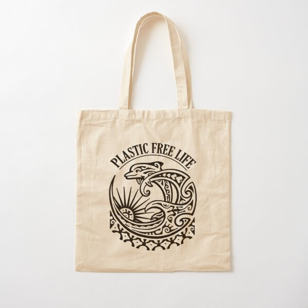 Marine life deserves clean oceans!! We can act together to free the oceans from plastic Cotton Tote Bag