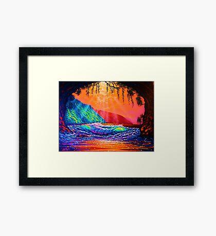 Lava Tube Fantasy in Gold Framed Print