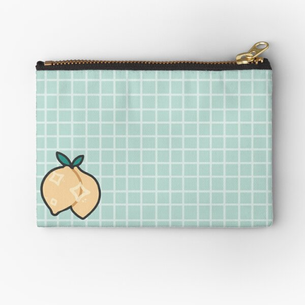 Lemon grid design Zipper Pouch