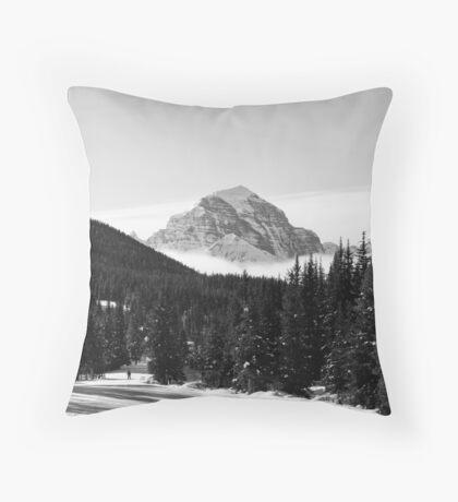 Mount Temple Throw Pillow