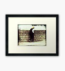 Old Man Walking Framed Print