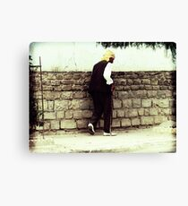 Old Man Walking Canvas Print