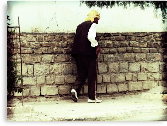 Old Man Walking by Omar Dakhane