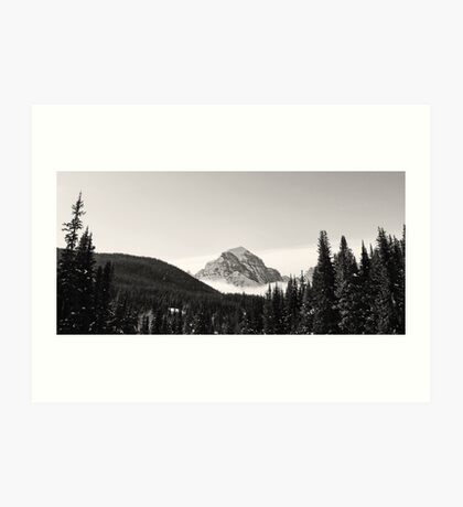 Peak at Lake Louise Art Print