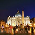 Night-time in Vatican City by Ruth Smith