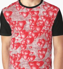 Grunge red hearts Graphic T-Shirt