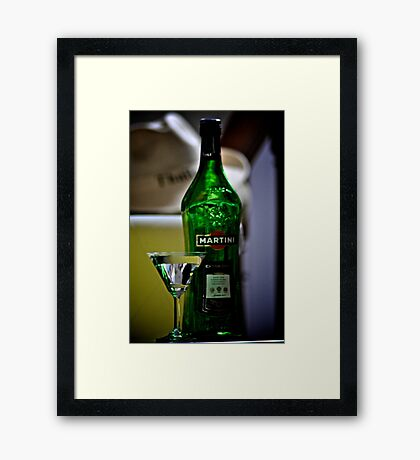 Martini Sir and Madam: On featured: http:#1-artists-of-redbubble Group 2.The-artistic-libation Group Framed Print