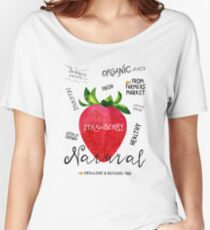Watercolor strawberry Women's Relaxed Fit T-Shirt
