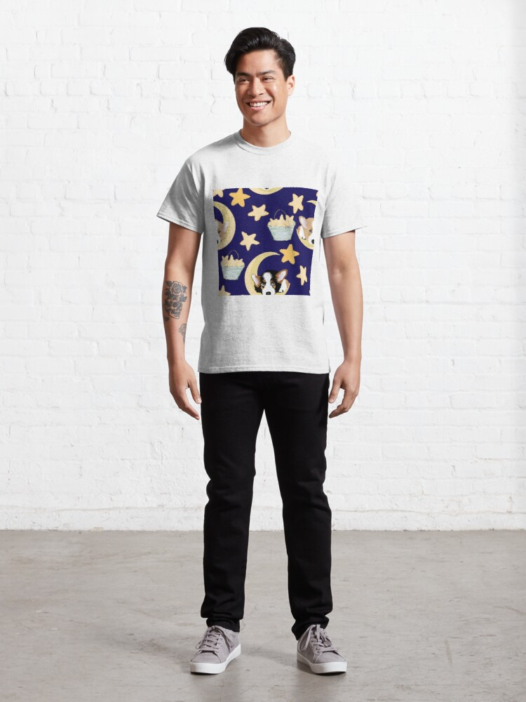 Alternate view of My Corgi World - Majesty Pembroke - Cute welsh cardigan corgis on the moon Classic T-Shirt