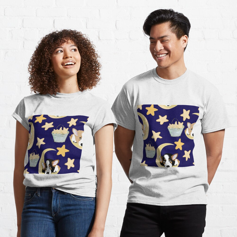 My Corgi World - Majesty Pembroke - Cute welsh cardigan corgis on the moon Classic T-Shirt