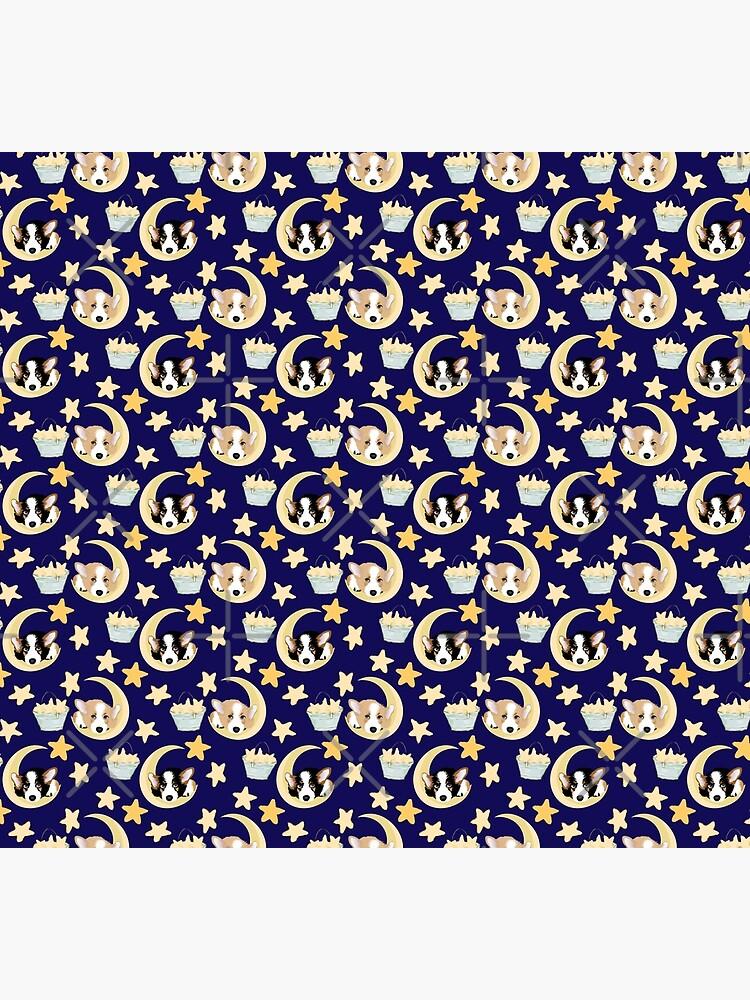 My Corgi World - Majesty Pembroke - Cute welsh cardigan corgis on the moon by Corgiworld