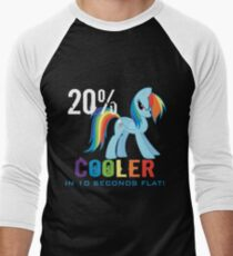 20% cooler in 10 seconds flat Men's Baseball ¾ T-Shirt