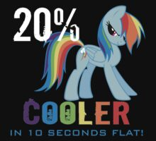 20% cooler in 10 seconds flat! Ladies