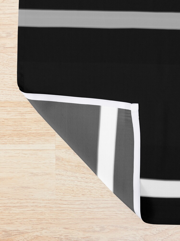 Alternate view of Minimal Abstract Black White 01 Shower Curtain