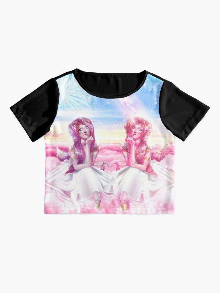 Alternate view of Pinkie Twins of Gemini - 12 Zodiac Ladies Chiffon Top