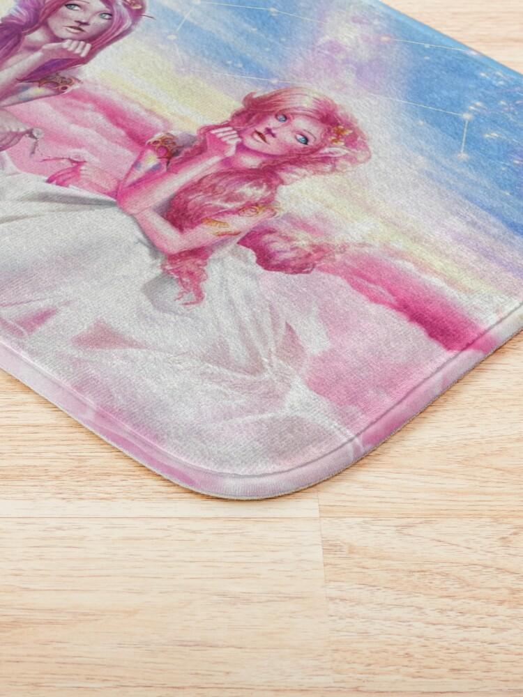 Alternate view of Pinkie Twins of Gemini - 12 Zodiac Ladies Bath Mat