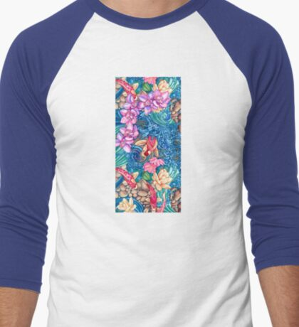 Orchid Splash Men's Baseball ¾ T-Shirt