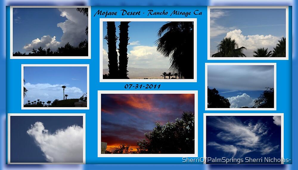 RAINDROPS KEEP FALLING ON MY HEAD by Sherri Palm Springs  Nicholas