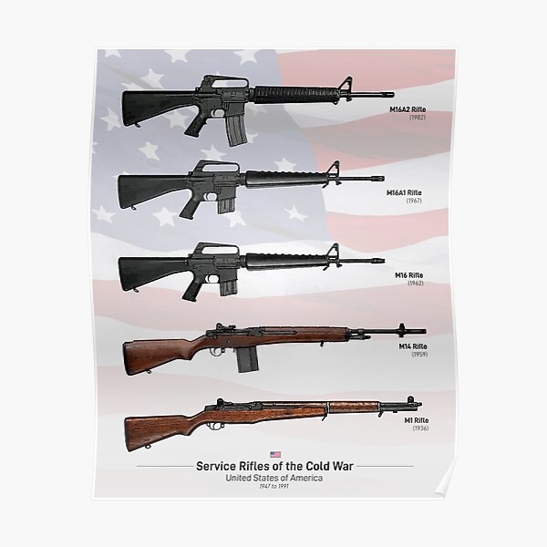 Cold War Service Rifles of the United States Poster