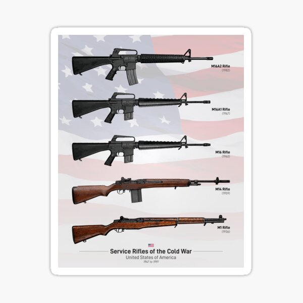 Cold War Service Rifles of the United States Sticker